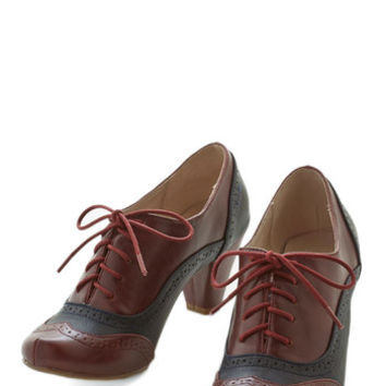 Chelsea Crew Menswear Inspired Cause for Collaboration Heel in Burgundy