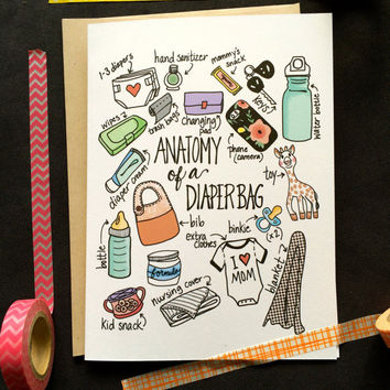 Anatomy of a Diaper Bag Card