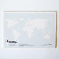 World Map Scheduler Desk Notepad