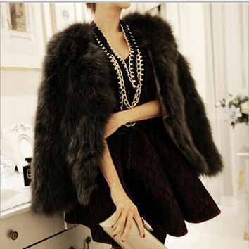 2017 New Winter Warm Faux Fur Coat Women O Neck Faux Fur Coats Jacket Feminino Vintage Mink Fox Jacket 10 Colors Size S M L XL