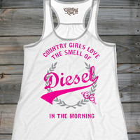 Juniors Country Girls™ Love Diesel Flowy Racerback Tank