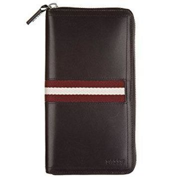 Bally men's wallet leather coin case holder purse card bifold trainspotting brow