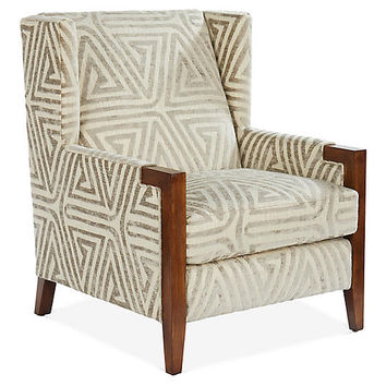 Everly Club Chair, Taupe/Ivory - Michael Thomas Collection - Brands | One Kings Lane