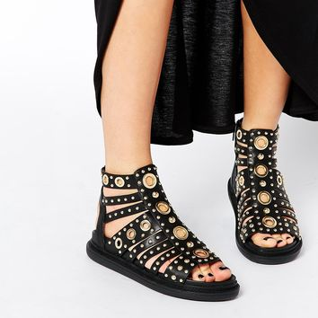 ASOS FINOLA Caged Gladiator Sandals