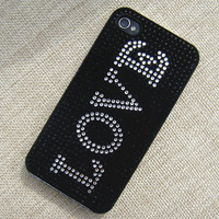 See My Love in the Dark Handmade Rhinestone Case for iPhone 5