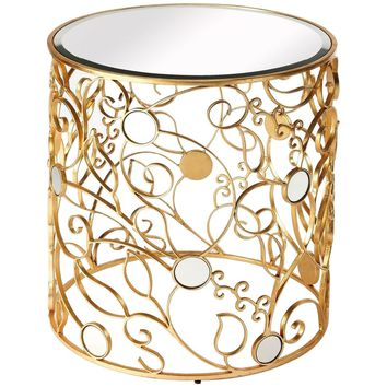 Bellissimo Antique Gold Side Table