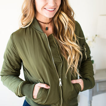 Olive This Bomber Jacket
