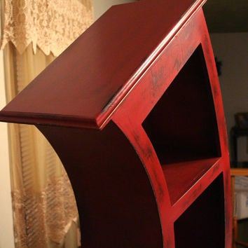 6FT Distressed Red by WoodCurve on Etsy