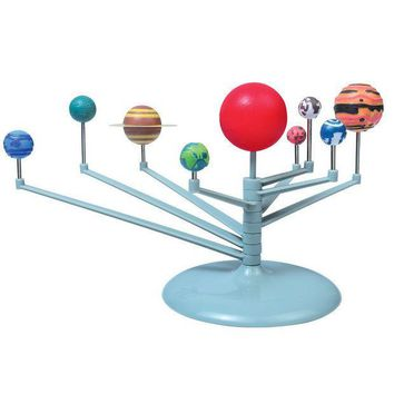ICIK272 Hot Sell DIY The Solar System Nine planets Planetarium Model Kit Science Astronomy Project Early Education For Children