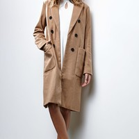 Renamed Faux Wool Peacoat - Womens Jacket
