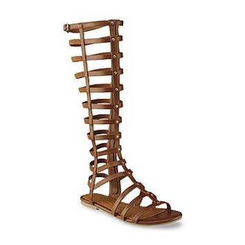 Seventeen Women's Simone Brown Gladiator Sandal