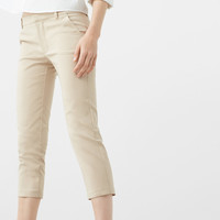 Straight-cut crop trousers