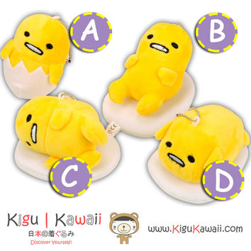New Kawaii Guddetama Egg Yolk Plushie Pillow Keychain Fluffy Huggable High Quality Soft Plush Toy 4 Designs KK694