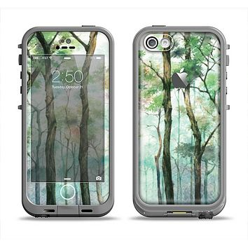 The Watercolor Glowing Sky Forrest Apple iPhone 5c LifeProof Fre Case Skin Set