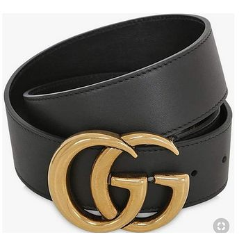 GUCCI classic double G retro men and women models wild fashion pants belt