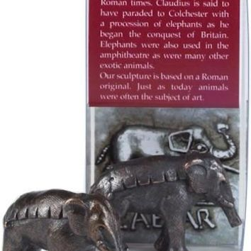Ancient Roman Elephant Hannibal Alps Miniature Statue 1H