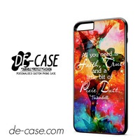 Disney Tinkerbell Quote DEAL-3442 Apple Phonecase Cover For Iphone 6/ 6S Plus