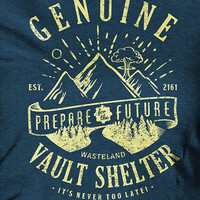 Genuine Vault Shelter - Wasteland est. 2161 Prepare for the Future | Fallout T-Shirt