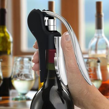 New Wine Tool Set Wine Opener Bar Lever Corkscrew Convenient Bottle Openers Foil Cutter Cork Tire Drill Lifter Kit VHF10 T30