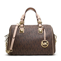MICHAEL Michael Kors  Medium Grayson Logo Satchel - Michael Kors