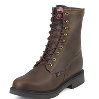 Justin Men's Work Boots - Bay Apache Lacer, Size 8.5 - 734