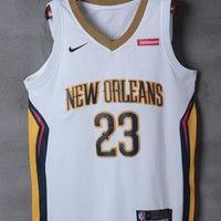 New Orleans Pelicans #23 Anthony Davis Nike White Association Edition NBA Jerseys - Best Deal Online