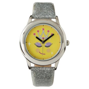 Sparkly Princess Emoticon Wristwatch