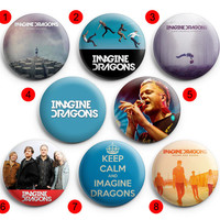 Imagine Dragons Pinback Buttons Badge ,Pin Badge Buttons 1.5 inch / 38 mm round buttons