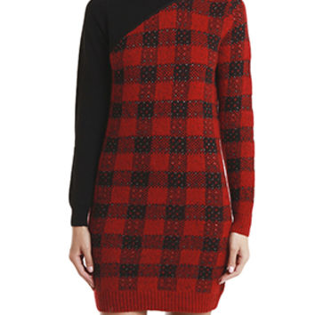 3.1 Phillip Lim Plaid Colorblock Dress