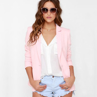 Women Clothing OL Office Wear Tailored Collar Sing Button Down Pockets Slim Fit Woman Lady Blazers CW0334