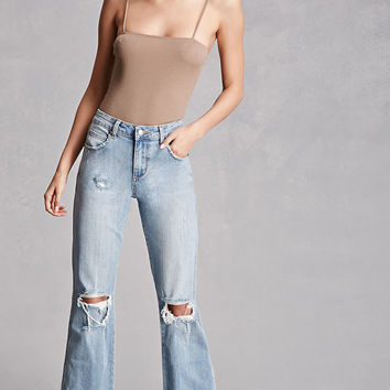 Twelve Frayed Flared Jeans