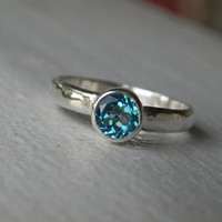 Mystic Topaz Ring - Blue Gemstone Stack Ring - Limited Edition Seascape Mystic Topaz Ring -  Ocean Blue Topaz- Teal Aqua Blue Green