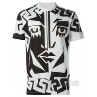 "Indie Designs Versace Inspired Graphic ""Face Le New"" Tshirt"