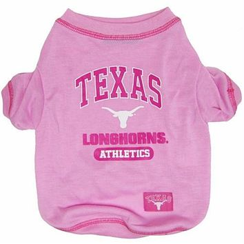 Texas Longhorns Pink Dog Tee Shirt