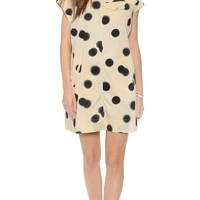 Marc by Marc Jacobs Women's Blurred Dot Dress, Whey Multi, Medium