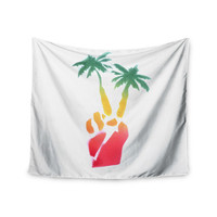 "Infinite Spray Art ""Peace Palms"" Palm Tree Wall Tapestry"