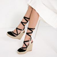 BOW DETAIL LEATHER WEDGES - View all-SHOES-WOMAN | ZARA United Kingdom