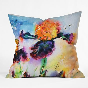 Ginette Fine Art Bearded Iris Vigilante Throw Pillow