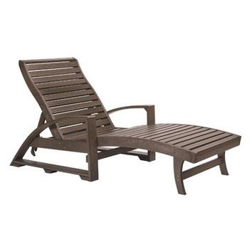 C.R. Plastics St. Tropez Chaise Lounge with Wheels in Chocolate