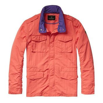 Retro Purple Dipped Windbreaker by Scotch & Soda
