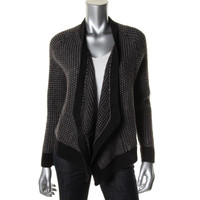 Eileen Fisher Womens Wool Blend Long Sleeves Cardigan Sweater