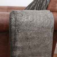 Jase Metallic Seal Faux Fur Throw