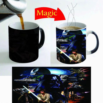 star wars mugs coffee cups tea mugs heat sensitive heat reactive Magic cups ceramic travel mug home decal