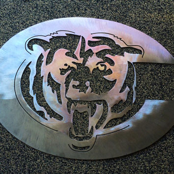 Chicago Bears Metal Sign