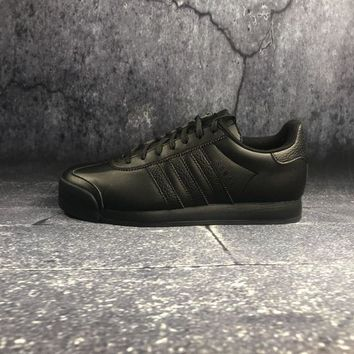 Adidas Originals Samoa W Pigskin Black Sports Running Shoes - Best Deal Online