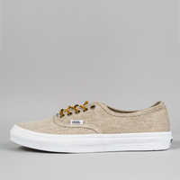 Vans Authentic Slim Trainers - Washed Canvas Cream/true White at Ozzys