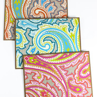 Set of 3 - Paisley Card, Blank Card, Kraft cardstock