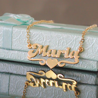 Gold Name Necklace - Personalized Name Chain -Choose any name to personalize