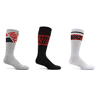 Nike Men's Dri-Fit Fly Rise Crew Socks 3-Pack