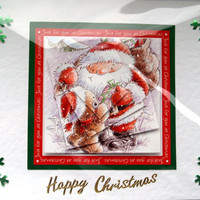 Christmas Card - Happy Christmas Hand-Crafted 3D Layered Card - Happy Christmas (1768)